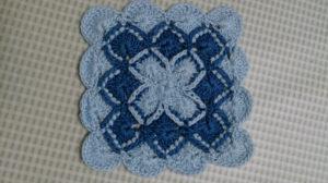 手編みコ-スタ-