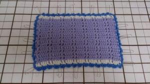 かぎ編みケ-スアイロンがけ